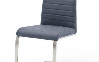Moderní jídelní židle FLORES AP ekokůže šedomodrá