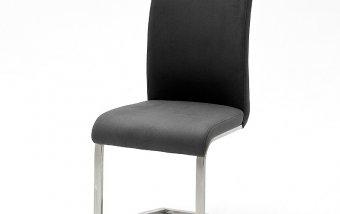 Židle jídelní ARCO ANTIC šedá ekokůže