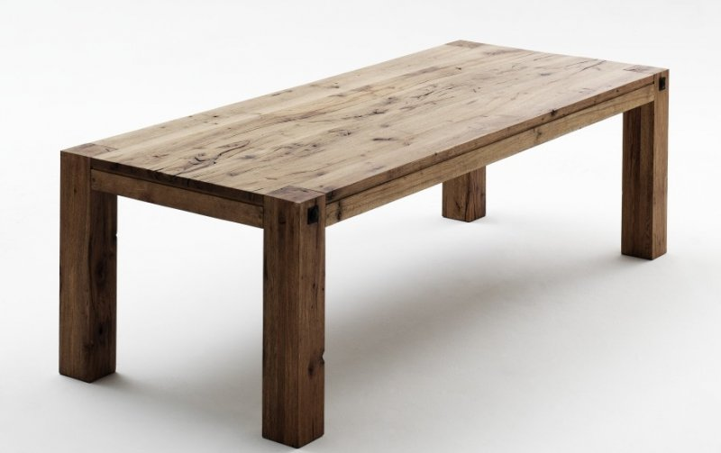 Jídelní stůl z masivu LEEDS tmavý dub bassano