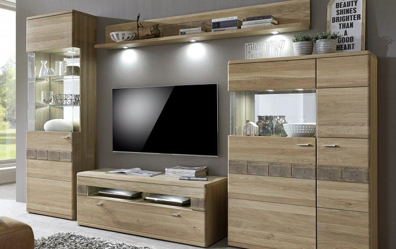 Nábytek do obývacího pokoje MIRO dub bělený