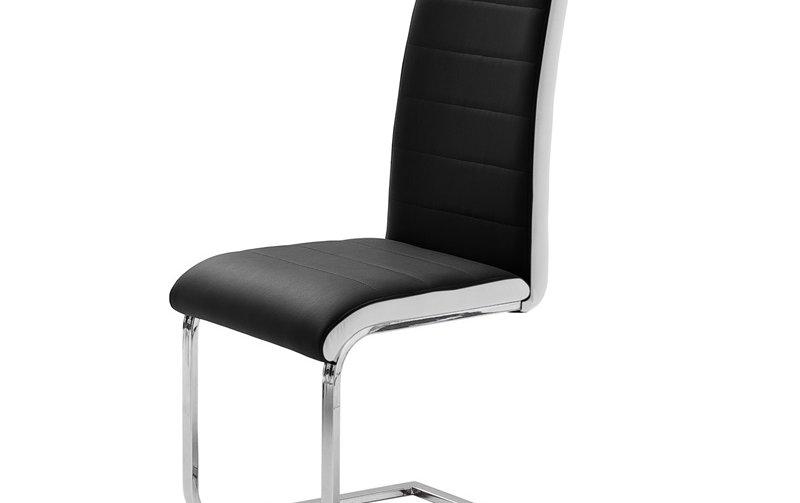 Pohupovací jídelní židle TOP černá ekokůže