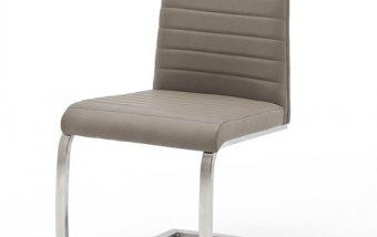 Moderní jídelní židle FLORES AP ekokůže šedohnědá taupe