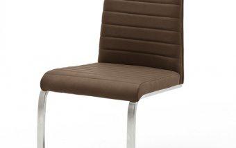 Moderní jídelní židle FLORES AP ekokůže hnědá