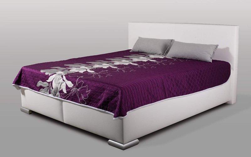 Vysoká manželská postel MIA XXL s úložným prostorem - 180x200