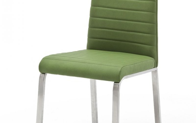 Moderní jídelní židle FLORES A ekokůže zelená kiwi