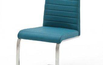 VÝPRODEJ: Moderní jídelní židle FLORES AP ekokůže tyrkysová