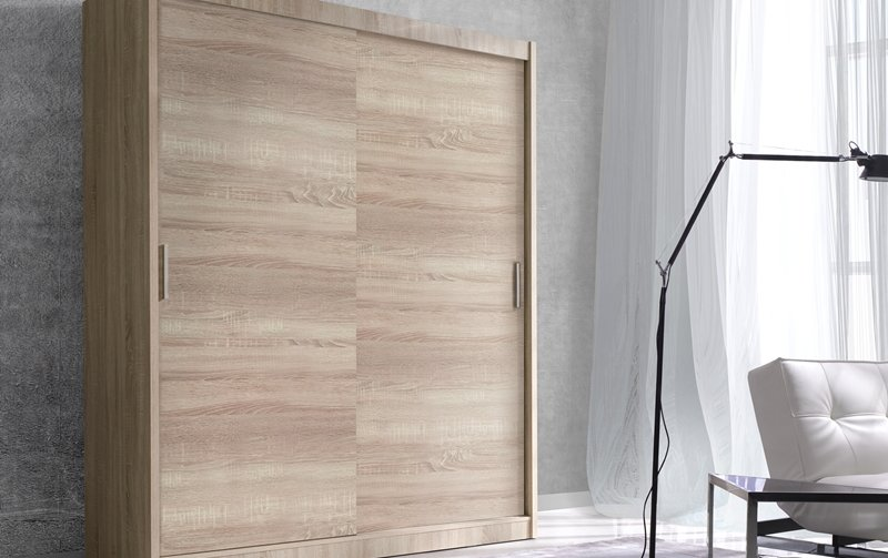 Šatní skříň s posuvnými dveřmi ALFA š.150 - dub sonoma