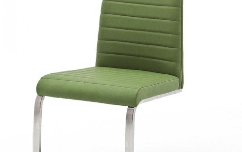 Moderní jídelní židle FLORES AP ekokůže zelená kiwi
