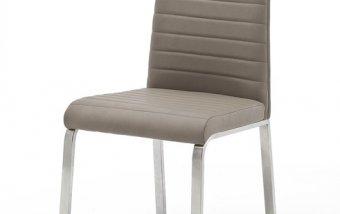 Moderní jídelní židle FLORES A ekokůže šedohnědá taupe