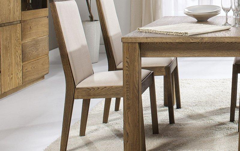 Dubová jídelní židle OSLO dub pálený