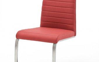 Moderní jídelní židle FLORES AP ekokůže červená