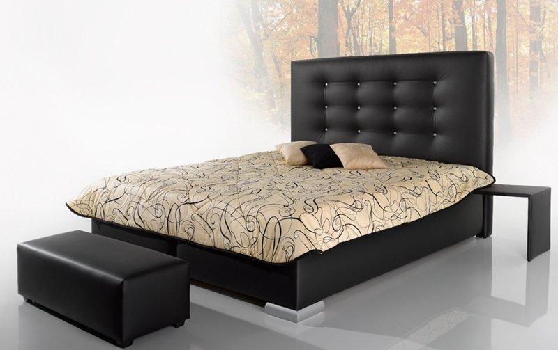 Čalouněná postel GRANDE s vysokým čelem - 160x200
