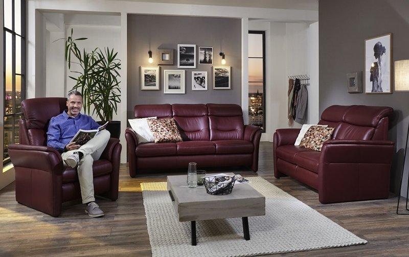 Luxusní kožená sedací souprava s funkcí TV 3+2+1 LOUIS
