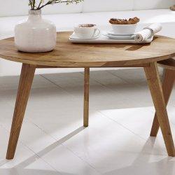Kulatý konferenční stolek I z dubového masivu OLPE - skandinávský design