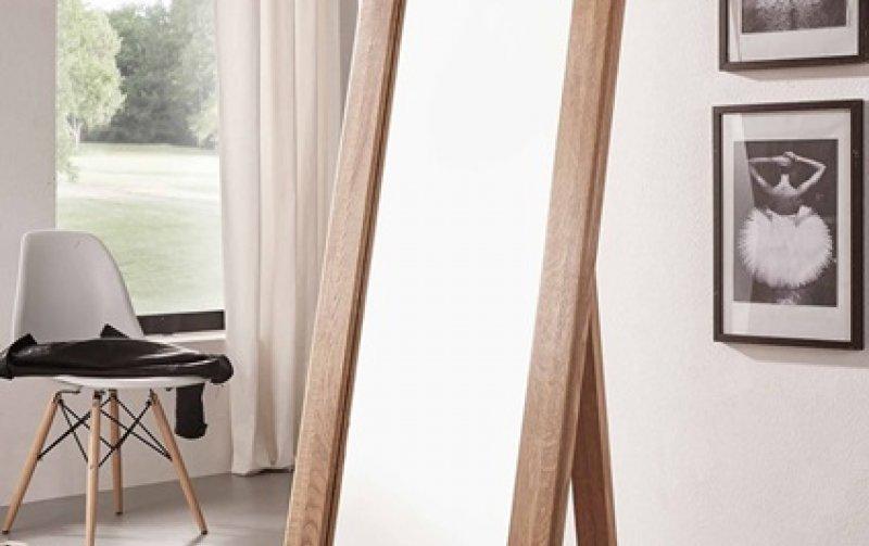 Zrcadlo v dubovém rámu stojící KEVIN (typ 089) dub divoký