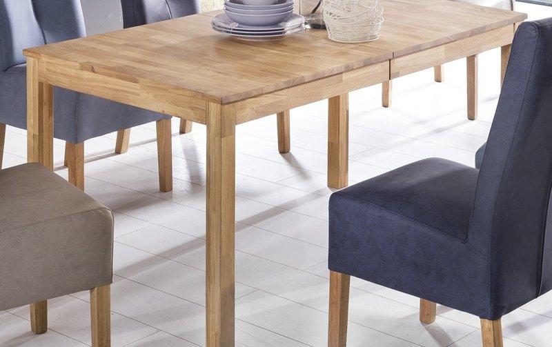 Rozkládací jídelní stůl z masivu SERGIO dub divoký