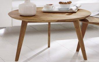 Kulatý konferenční stolek II z dubového masivu OLPE - skandinávský design