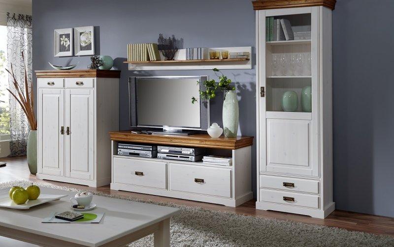 Nábytek do obývacího pokoje z masivu RUDOLF borovice bílá