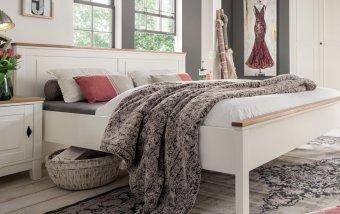 Vysoká postel z masivu MICHELLE borovice krémová