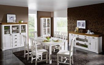 Nábytek do jídelny z masivu RUDOLF borovice bílá