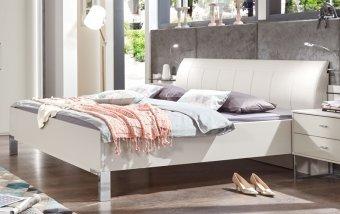 Luxusní postel KANSAS bílá champagne