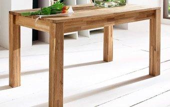 Rozkládací jídelní stůl z masivu PETER dub divoký
