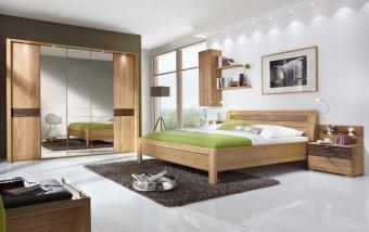 Ložnice LUGANO dub/hnědý dekor