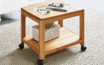 Dřevěný stolek na kolečkách malý KEVIN (typ 199) dub divoký
