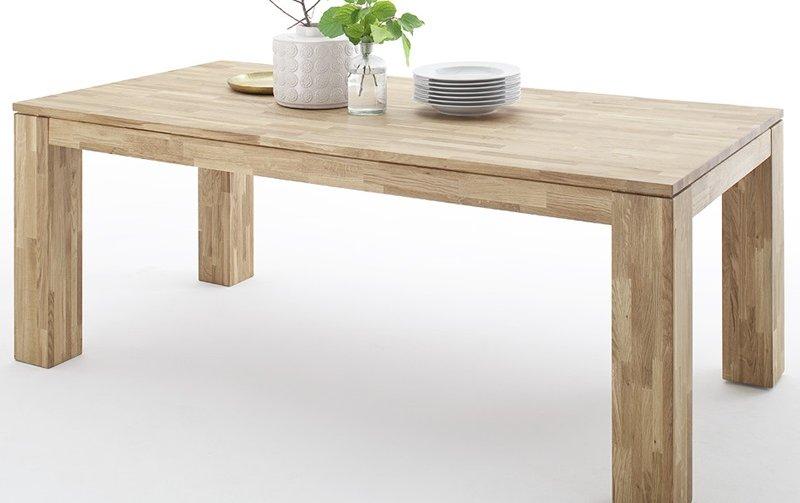 Rozkládací jídelní stůl z masivu NANTES dub divoký