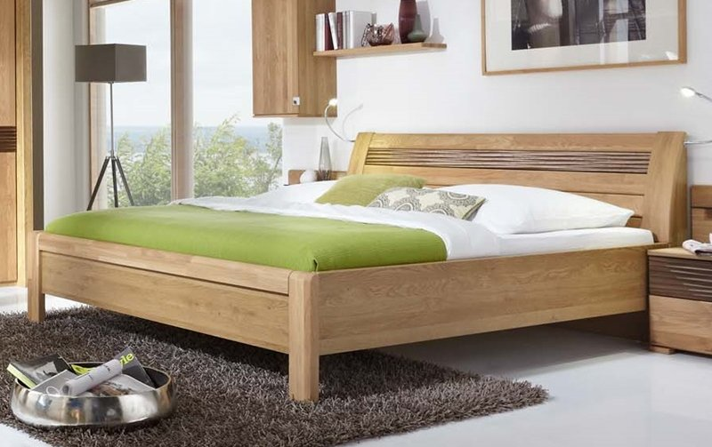Elegantní postel LUGANO dub/hnědý dekor