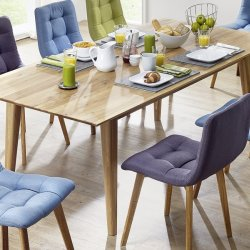 Rozkládací jídelní stůl MAX 160-200-240x90 dub divoký - skandinávský design