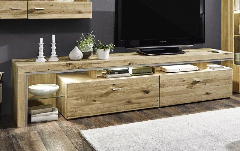 Televizní stolek z masivu BRUNI dub sukatý bělený typ 04