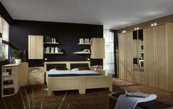 Moderní ložnice s oddělenými lůžky LUXOR zlatý javor
