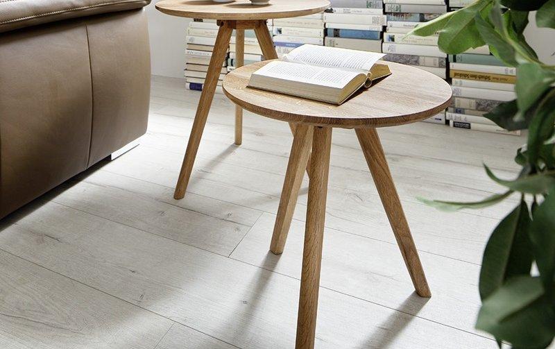 Sada dvou konferenčních stolků z masivu GENNY dub přírodní