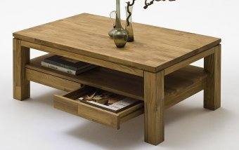 Konferenční stolek se zásuvkami GORDON dub masiv přírodní