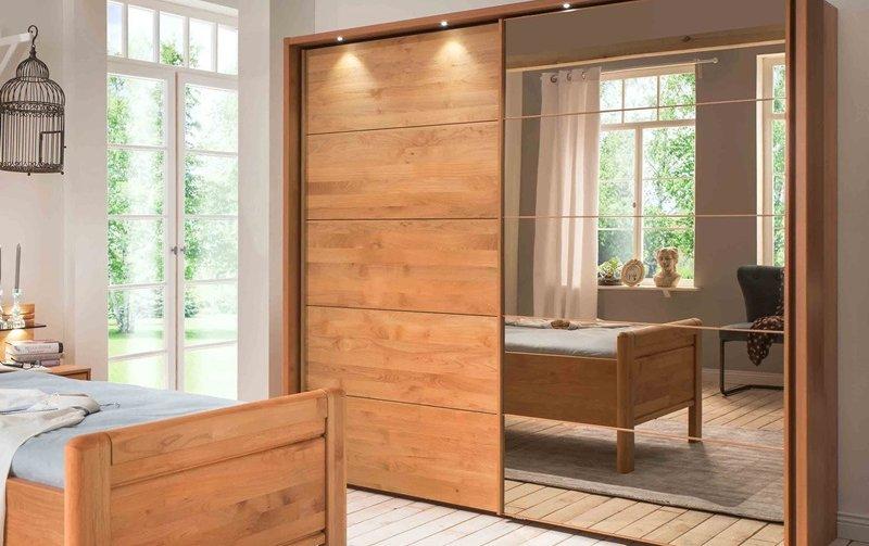 Skříň s posuvnými dveřmi se zrcadlem LIDO 1 olše