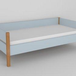 Postel do dětského pokoje 200x90 buk masiv/modrá