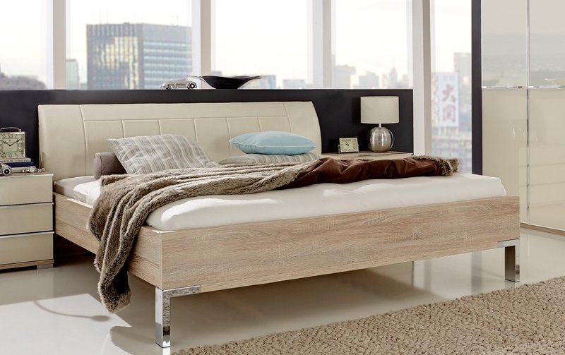 Moderní postel SHANGHAI dub sonoma/magnólie