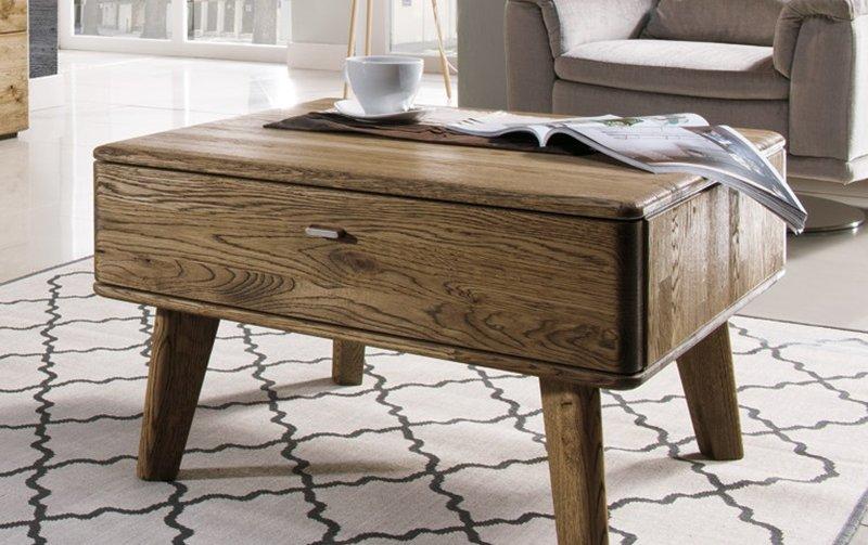 Dubový konferenční stolek z masivu DALLAS dub pálený olejovaný (typ 66)