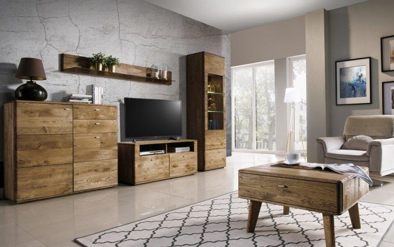 Dubový nábytek z masivu do obývacího pokoje a jídelny - DALLAS 7 dub pálený olejovaný