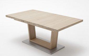Rozkládací jídelní stůl z dubového masivu CANTANIA A dub bianco