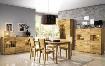 Dubový nábytek z masivu do obývacího pokoje a jídelny - DALLAS 3 dub olejovaný