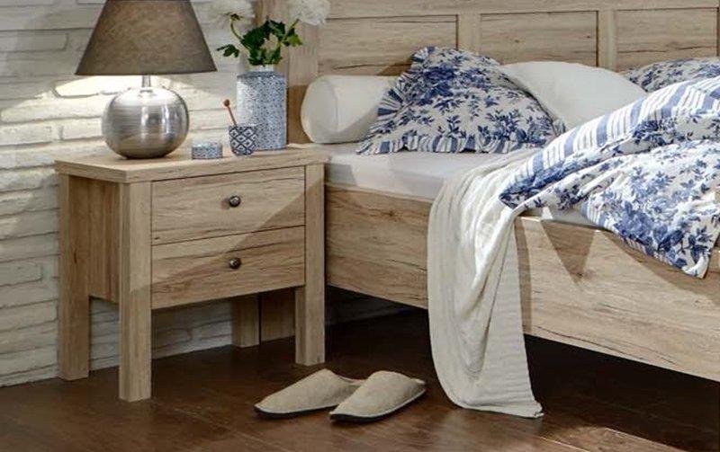 Noční stolek BERGAMO dub santana