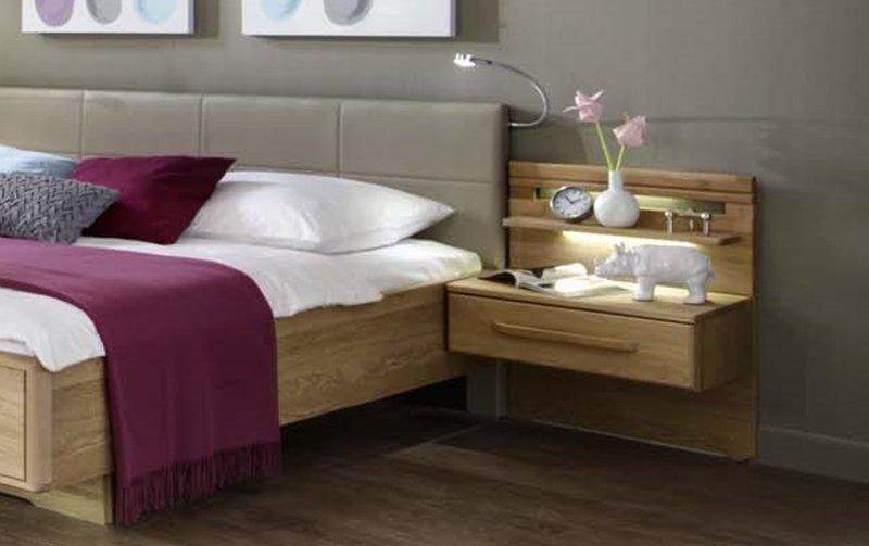 Noční stolek TORINO dub masiv/dubová dýha
