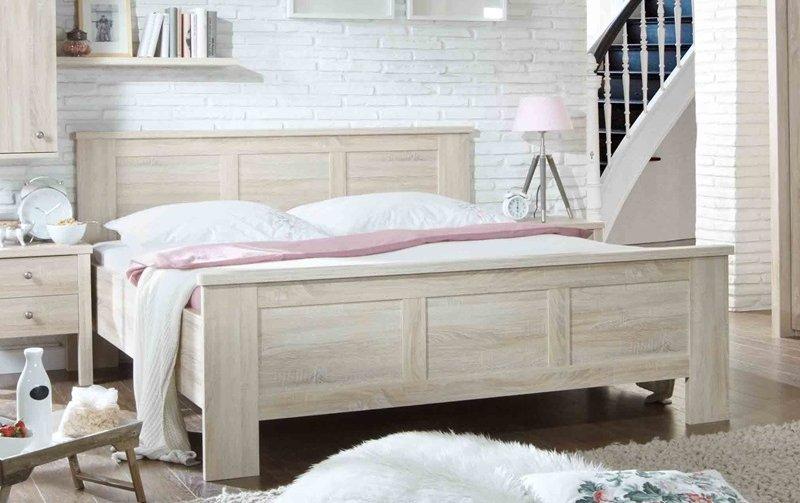 Moderní postel z lamina BERGAMO dub sonoma