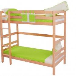 Patrová postel do dětského pokoje DANIEL 200x90 buk masiv přírodní