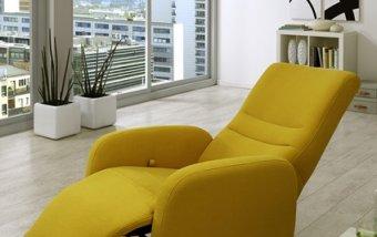 Moderní kožené křeslo ORION s funkcí relax