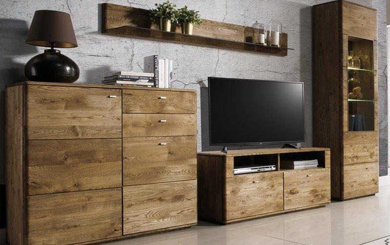 Dubový nábytek z masivu do obývacího pokoje a jídelny - DALLAS 6 dub pálený olejovaný