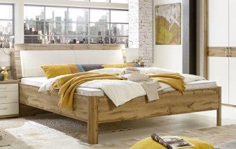 Moderní postel PADUA alpská bílá/dub
