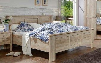 Moderní postel z lamina BERGAMO dub santana